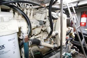 45' Sea Ray 450 Express Bridge 1999 SEA RAY 450 Express Bridge Portside Engine