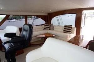 76' Viking 76 EB Convertible 2012 Bridge salon