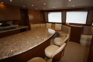 76' Viking 76 EB Convertible 2012 Galley bar seating