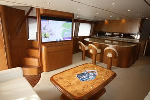 76' Viking 76 EB Convertible 2012 Main salon port