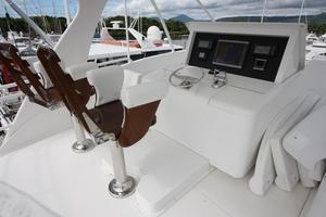76' Viking 76 EB Convertible 2012 Skybridge helm