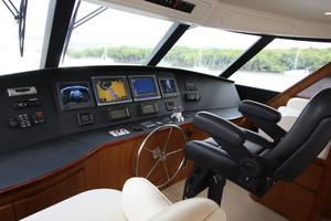 76' Viking 76 EB Convertible 2012 Flybridge helm