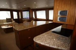 76' Viking 76 EB Convertible 2012 Galley