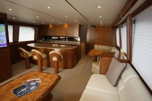 76' Viking 76 EB Convertible 2012 Main salon starboard