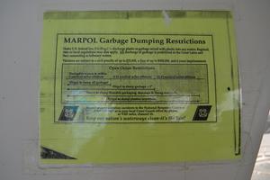 70' Drift Fishing Vessel 90 Person Commercial 1986 70' Drift Fishing Vessel Dumping Restrictions Plackard