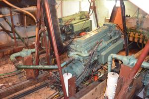 70' Drift Fishing Vessel 90 Person Commercial 1986 70' Drift Fishing Vessel Engine View