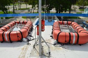 70' Drift Fishing Vessel 90 Person Commercial 1986 70' Drift Fishing Vessel Life Floats Pilot House Roof