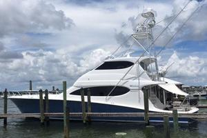 68' Hatteras 68 Convertible 2006 Port at dock - July 2016