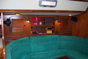 44' Hylas 44 Center Cockpit Sloop 1987 44 Hylas Salon Port Shelving