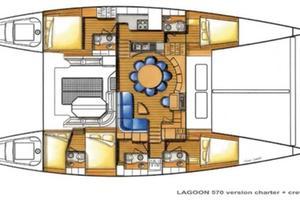 57' Lagoon 570 2001 Layout