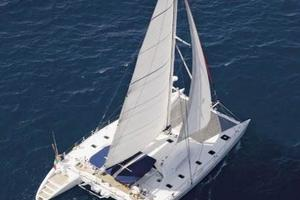 57' Lagoon 570 2001 From the air (sistership)