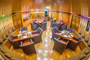 Custom 110 Motor Yacht Dining and Bar