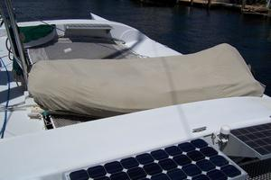 55' Chris White Juniper 2 Trimaran 1989 Achilles Dinghy on Deck