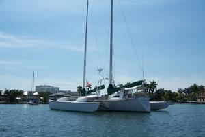 55' Chris White Juniper 2 Trimaran 1989 Port Stern View