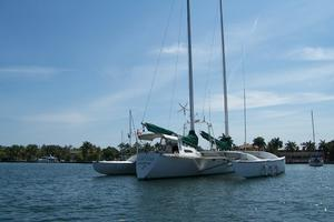 55' Chris White Juniper 2 Trimaran 1989 Stbd Stern View