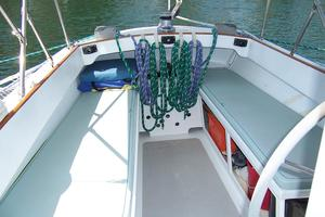 55' Chris White Juniper 2 Trimaran 1989 Cockpit Seating Aft