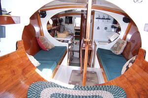 55' Chris White Juniper 2 Trimaran 1989 Salon From Master Berth