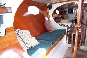 55' Chris White Juniper 2 Trimaran 1989 Salon to Aft