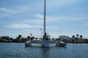 55' Chris White Juniper 2 Trimaran 1989 Transom View