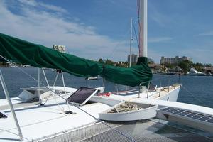 55' Chris White Juniper 2 Trimaran 1989 Fwd Deck