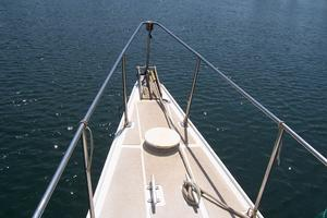 55' Chris White Juniper 2 Trimaran 1989 Bow Pulpit