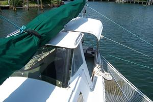 55' Chris White Juniper 2 Trimaran 1989 Cockpit