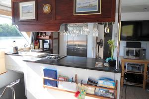 50' Powercat Flybridge 2014 Flybridge Power Catamaran Spacious Galley