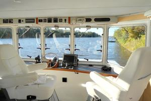 50' Powercat Flybridge 2014 Flybridge Power Catamaran Helm Station