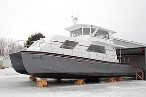 50' Powercat Flybridge 2014 Flybridge Power Catamaran On the Hard