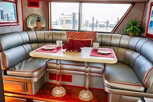 74' Hatteras Motor Yacht With Cockpit 1990 Galley/Dinette