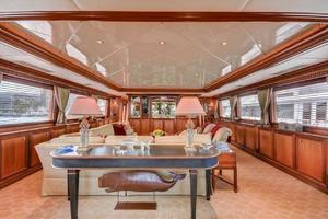 118' Broward Raised Pilothouse MY 2000 Main Salon