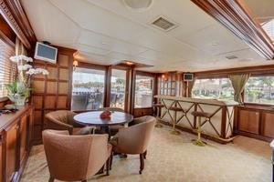 118' Broward Raised Pilothouse MY 2000 Main Salon, Game Table & Bar