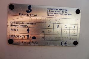 54' Beneteau Oceanis 54 2011 CE
