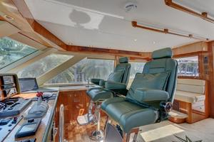 86' Hatteras Sport Fisherman 2002 Flybridge Helm