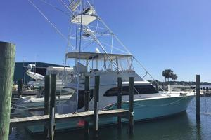 61' Buddy Davis 61 Sportfish 1989 At dock -strbd