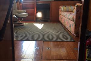 46' Overseas PT 46 Sundeck 1987 Salon looking Aft