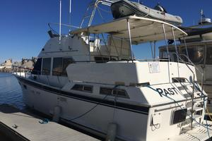 46' Overseas PT 46 Sundeck 1987 Port Side