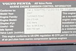 40' Cruisers Yachts 390 Sports Coupe 2008 Engine specs