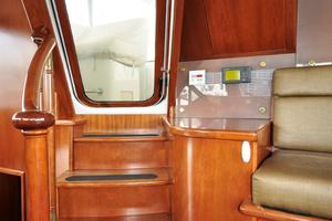 90' Custom Luxury Motor Yacht  2001 Doorway to Flybridge