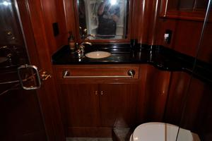 90' Custom Luxury Motor Yacht  2001 Ensuite Bathroom Forward