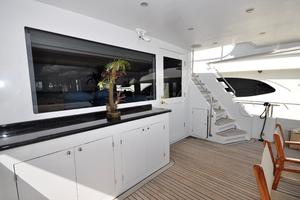 90' Custom Luxury Motor Yacht  2001 Aft Deck