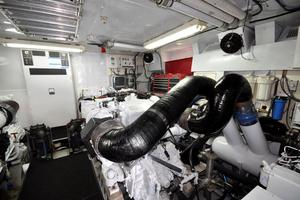90' Custom Luxury Motor Yacht  2001 Engine Room