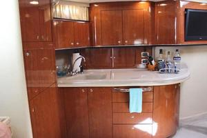 46' Sea Ray 460 Sundancer 2003 Full Galley To Port W/Full Size Refrigerator Freezer, Sink, 3-Burner Glass Cooktop