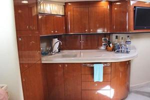 46' Sea Ray 460 Sundancer 2003 Full Galley To Port W/Full Size Refrigerator Freezer, Sink, 3-Burner Glass Cooktop
