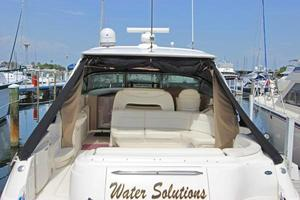 46' Sea Ray 460 Sundancer 2003 Cockpit View From Transom