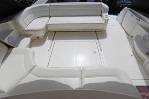 46' Sea Ray 460 Sundancer 2003 Cockpit Looking Aft From Helm Seating