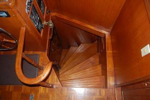 50' Marine Trader 50' Trawler 1981 1981 Marine Trader 50' Trawler, pilothouse steps leading down to staterooms
