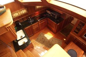 52' Legacy Yachts Flybridge Sedan 2004 Galley and Dinette from above (Helm)