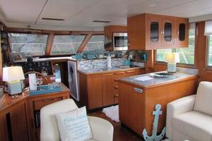 46' Jefferson Motor Yacht 1994 Galley Lower Helm