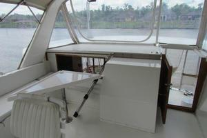 46' Jefferson Motor Yacht 1994 Flybridge Aft View